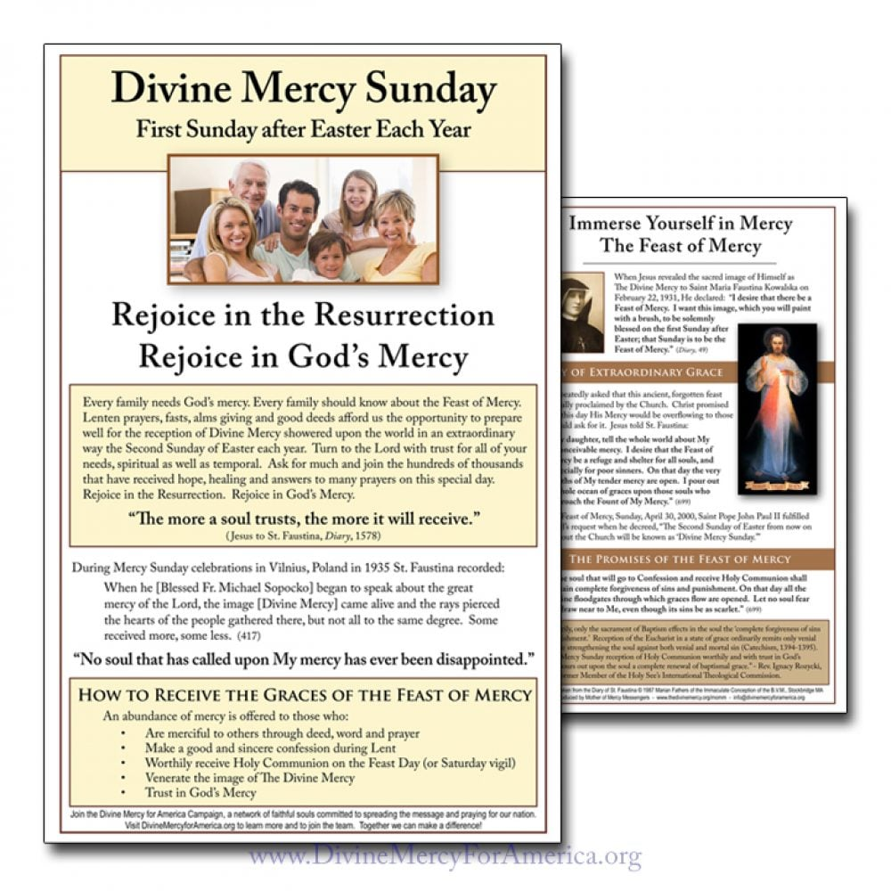 Divine Mercy Sunday Flyer