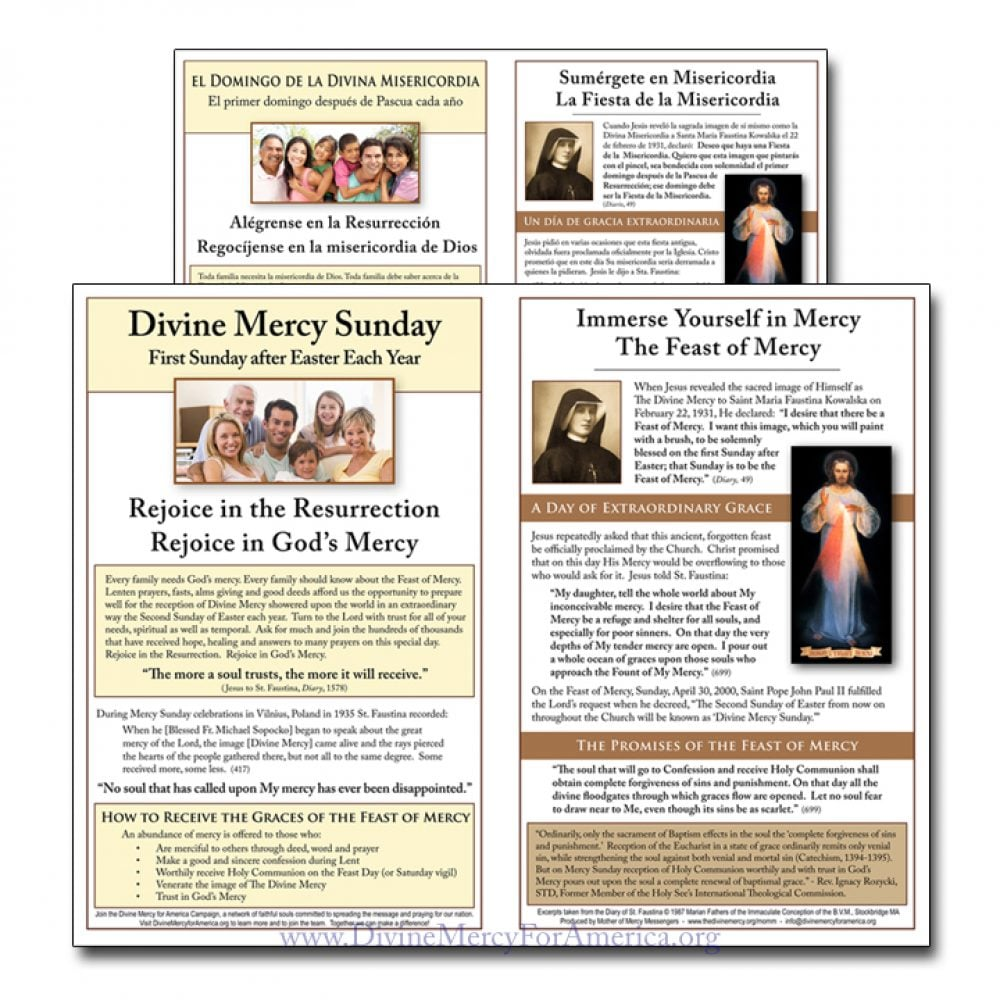 Divine Mercy Sunday Flyer English and Spanish