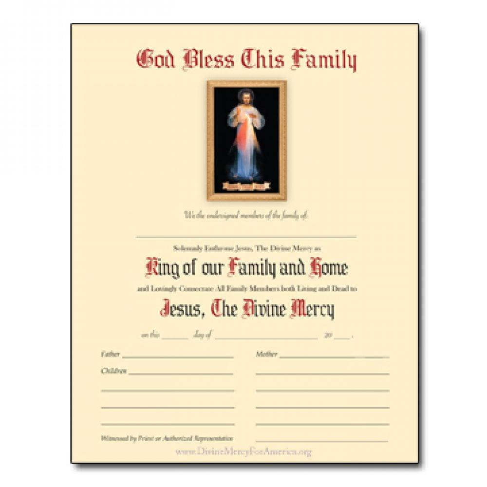Enthronement Certificate