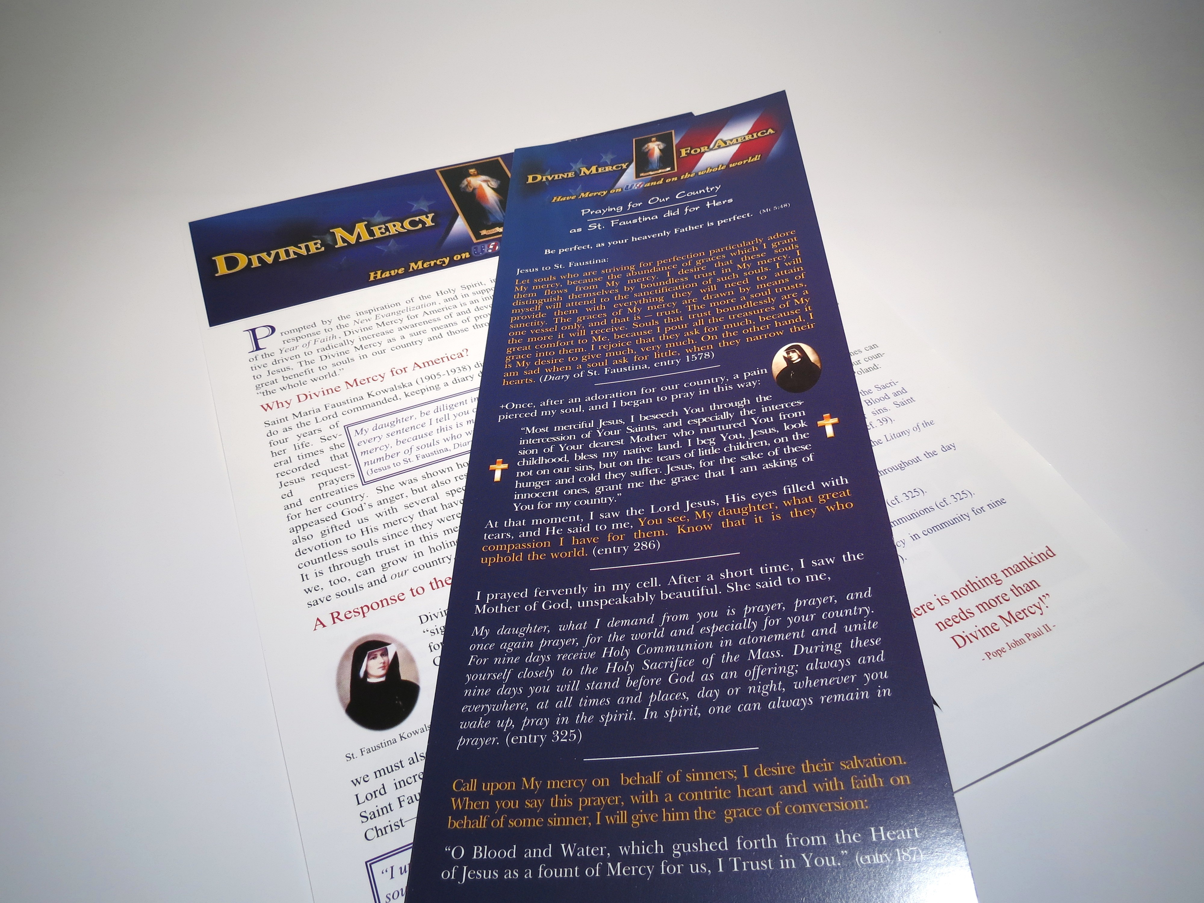 Divine Mercy for America Prayer Guide and Flyer