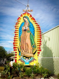 Outdoor image at St Padua in Robstown, Our Lady, Pray For Us!