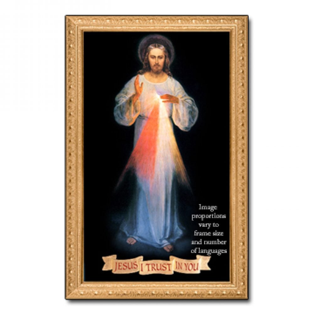 Divine Mercy Image Framed