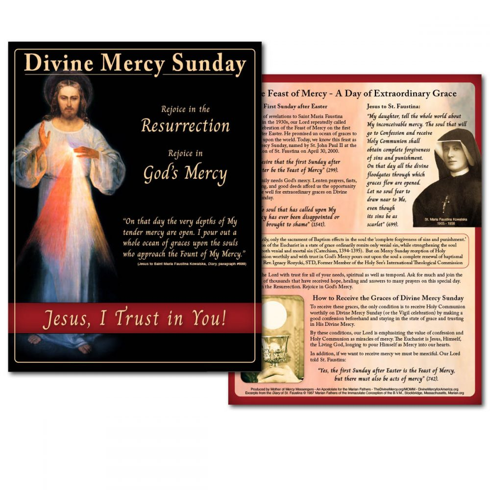 Divine Mercy Sunday Flyer and Handout Double-sided