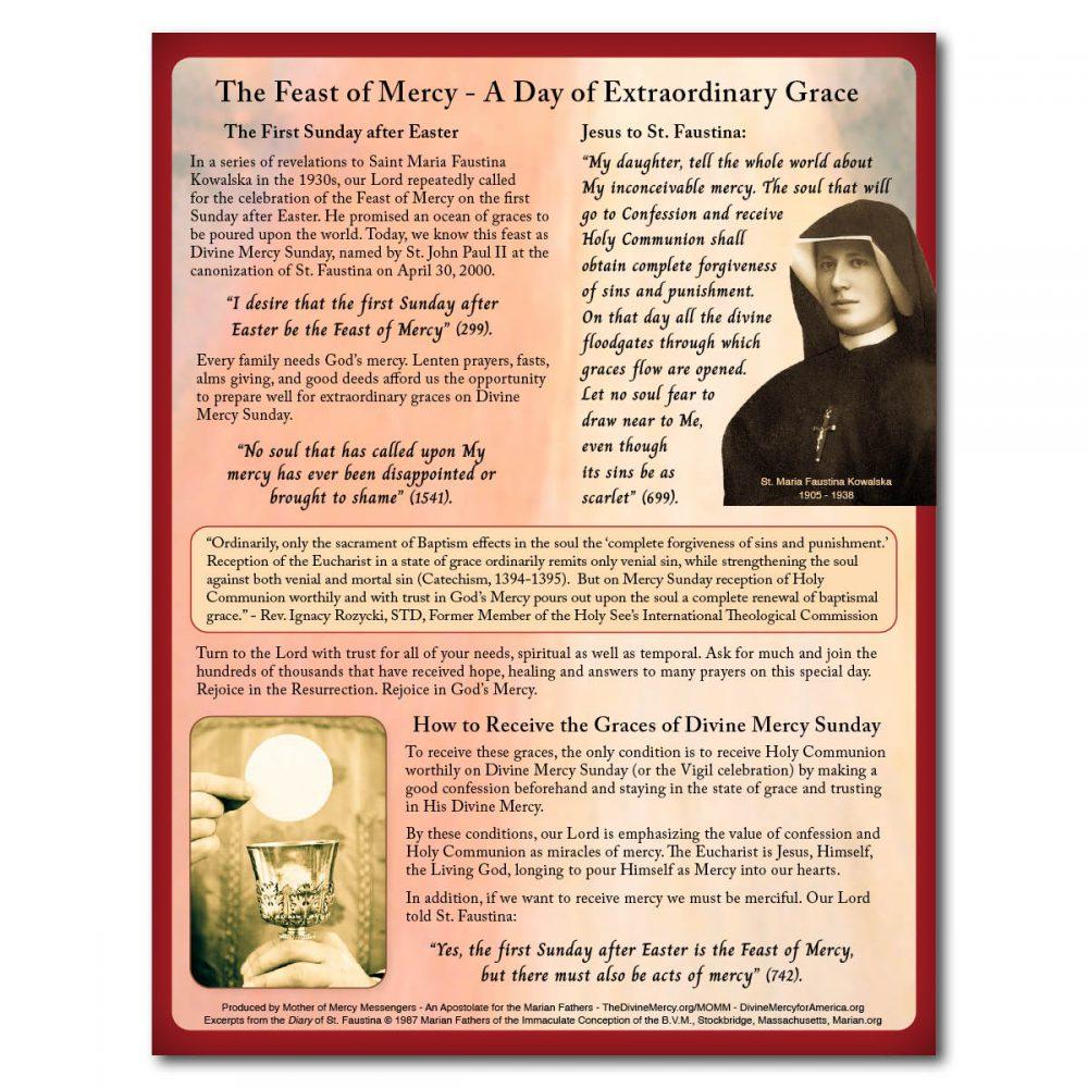 Divine Mercy Sunday Flyer Back