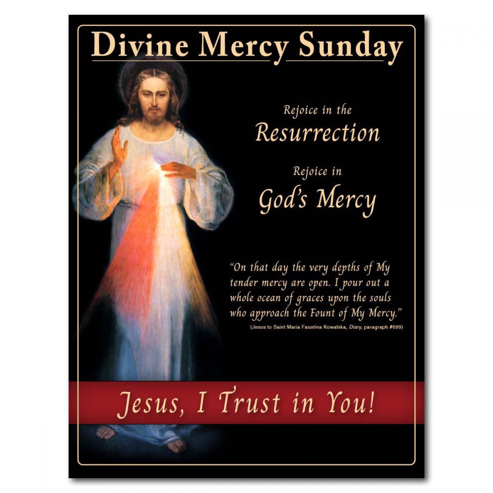 Divine Mercy Sunday Flyer Front